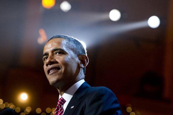 El presidente de los Estados Unidos estuvo acompañado de su familia y ro...