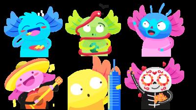 Los emojis ganadores del concurso, creados por  Itzel Oropeza Castillo.