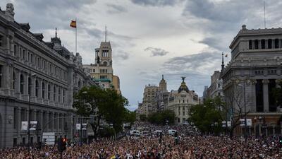 En fotos: los festejos del Real Madrid tras su triunfo en la Champions League