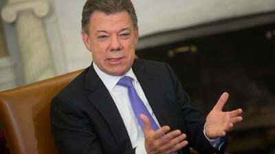 Juan Manuel Santos, presidente de Colombia, habló en exclusiva con Univi...
