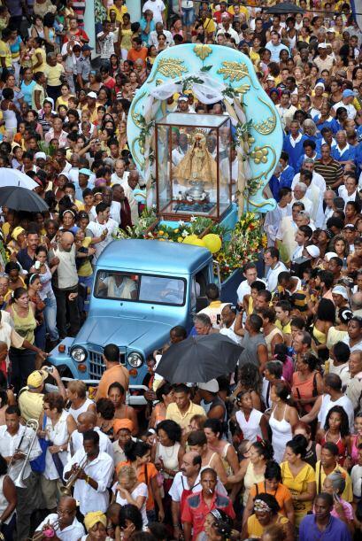 La procesión partió del Templo de la Caridad, en el Centro de La Habana,...