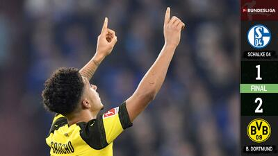 El Dortmund sufre, pero sigue en la cima tras derrotar de visita al Schalke