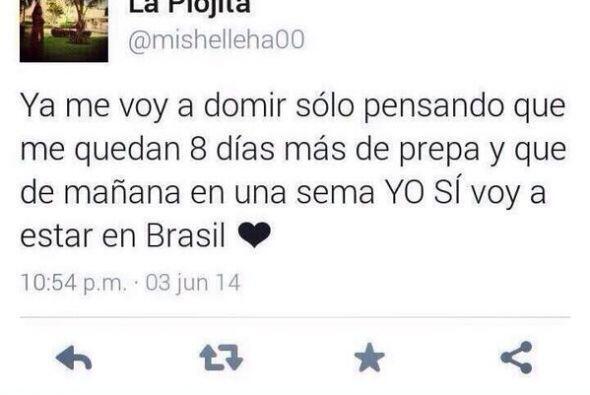 Además, se jactó de que ella SÍ SE VA a Brasil, no...