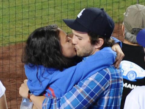 La pareja disfrutó de un gran partido de baseball, pero no se qui...