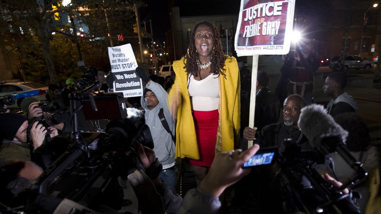 Los manifestantes gritaron consignas contra el sistema judicial
