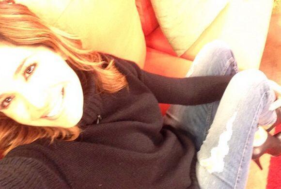 """""""Aquí relax! #Viernesrelax"""", compartió Karla. (Diciembre 19, 2014)"""
