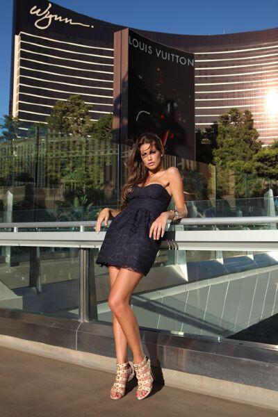 La modelo italiana Francesca Fioretti, es pareja del jugador de la Roma,...