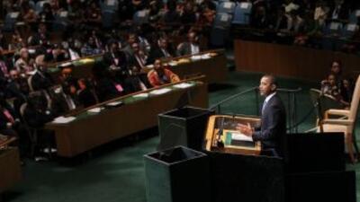 El presidente Barack Obama habló ante la Asamblea General de la ONU en N...
