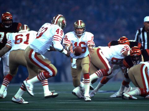 Recuerdo de los 2 Super Bowls que jugaron Bengals y 49ers
