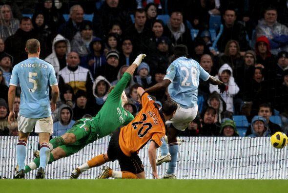 Nenad Milijas abrió el marcador del encuentro y pusó al Wolverhampton 1...