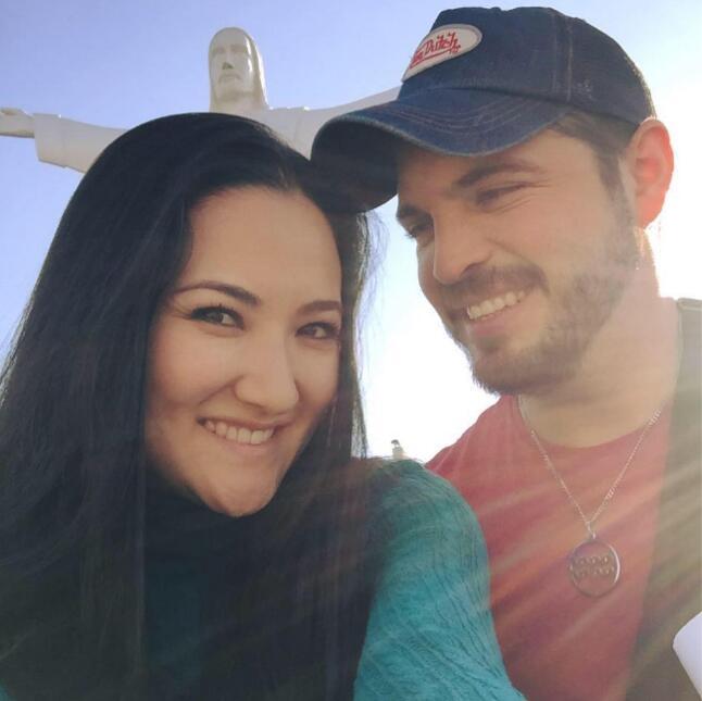 Hiromi y su esposo Fernando Santana