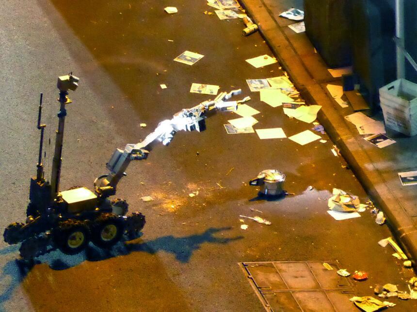 Así inutilizó un robot de la Policía de Nueva York la segunda bomba colo...
