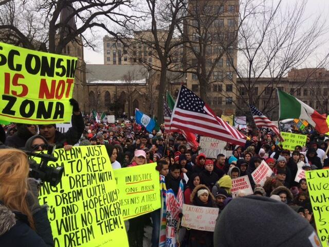 Imágenes de la protesta de Un Día sin Latinos en Wisconsin