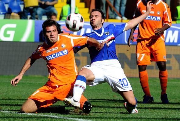 Finalmente, se esperaba un gran duelo entre Sampdoria y Udinese.