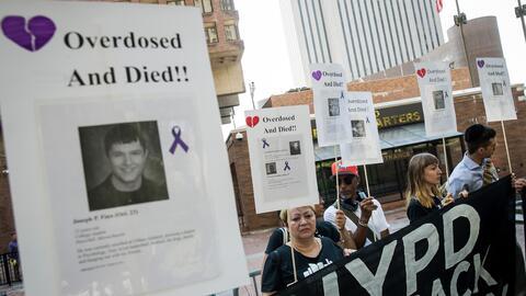 Una manifestación en Nueva York por parte de parientes de víctimas de la...