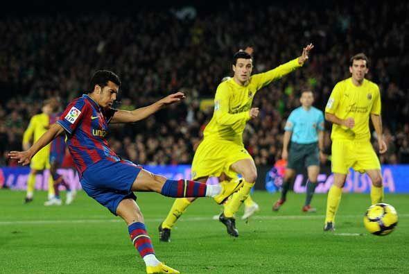 Parecía que la fiesta iba a seguir cuando Pedro puso en ventaja al Barça...