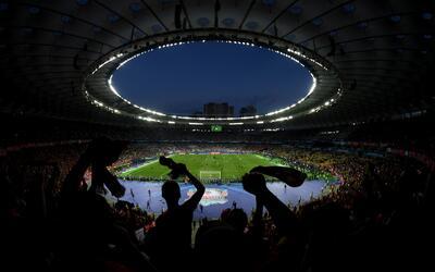 Así luce el imponente estadio de Kiev.