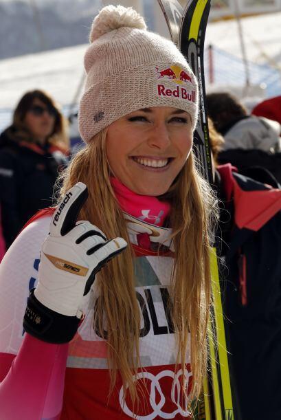 Lindsey Vonn ganó la prueba de descenso en la Copa del Mundo de esquí pa...