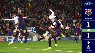 Por obra y gracia del Chucky: Tottenham le empató al Barcelona y avanzó a Octavos de Final