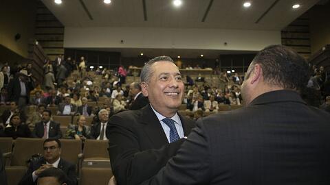 Manlio Fabio Beltrones, del PRI, en el Congreso mexicano el 12 de diciem...