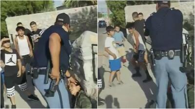 Investigan a un agente después de que apuntó su arma contra un grupo de niños en Texas