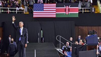 La visita de Barack Obama a Kenia tuvo un cierre impresionante.