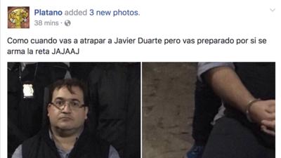 Los memes de la captura de Javier Duarte