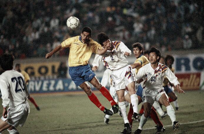 Víctor Hugo Aristazabal llegó al Valencia C.F. en 1993 y solo pudo marca...