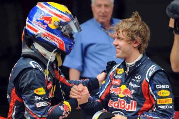 Vettel y Webber le dieron otra jornada de satisfacciones a la escudería...
