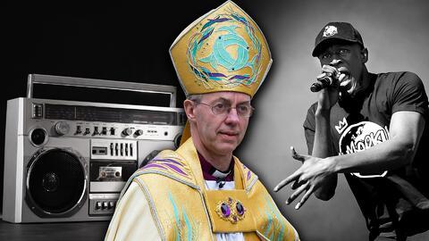 Arzobispo de Canterbury, Justin Welby y cantante de música urbana Stormzy