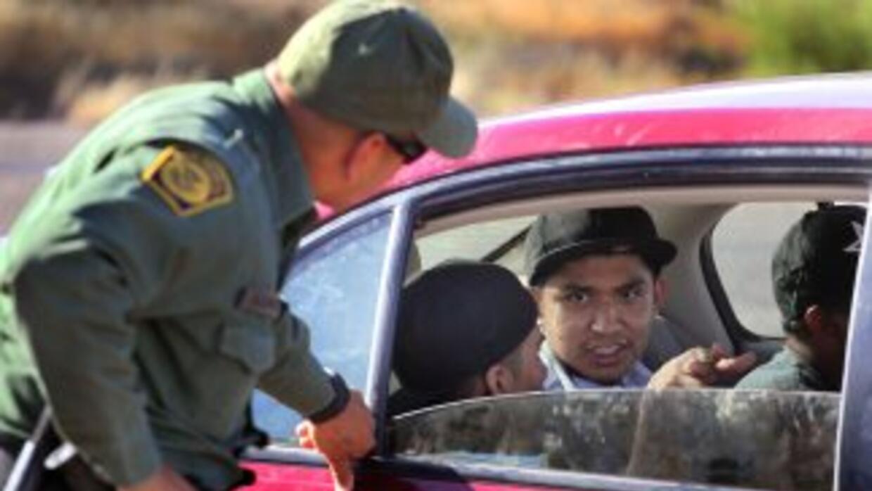 Puesto de control de la Patrulla Fronteriza en la frontera con México.