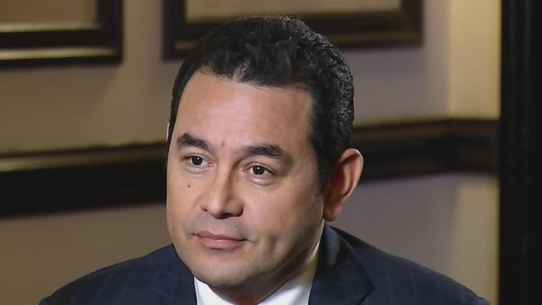 El presidente de Guatemala habla sobre las acusaciones de corrupción en...