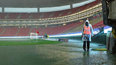 En fotos: ¡Bajo el agua el estadio de Chivas a minutos del partido contra Cruz Azul!