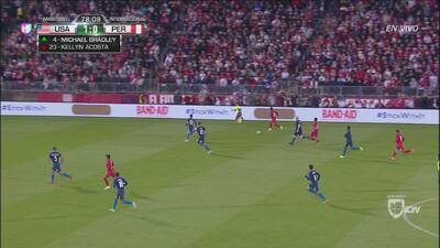 ¡Flores le da el empate a Perú a cuatro minutos del final!
