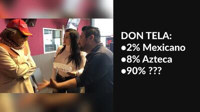 Aunque Don Telaraño quiere ser 100% americano, las pruebas de ADN dicen lo contrario