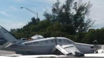 Una avioneta modelo Socata TBM aterrizó de forma forzosa en la zona de H...
