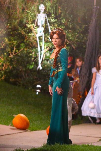 Pero ella no fue la única del elenco que eligió un curioso disfraz.