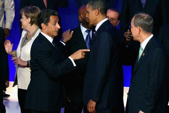 La intención era que la charla fuera privada. En ella Sarkozy cal...