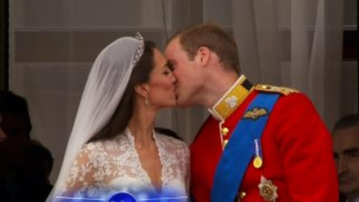 El beso de la pareja real