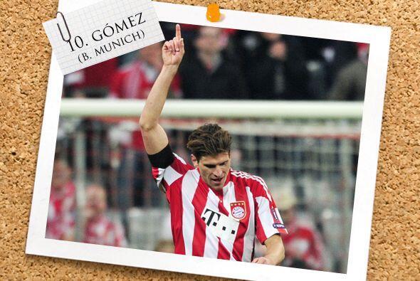 En la punta está el alemán con orígenes españoles, Mario Gómez.