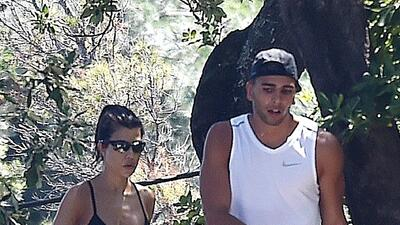 El novio de Kourtney Kardashian ya convive con los hijos de la socialite