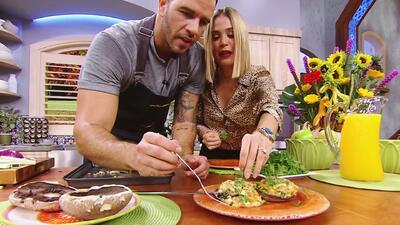 Karla quedó fascinada con esta receta de champiñones portobello gratinados