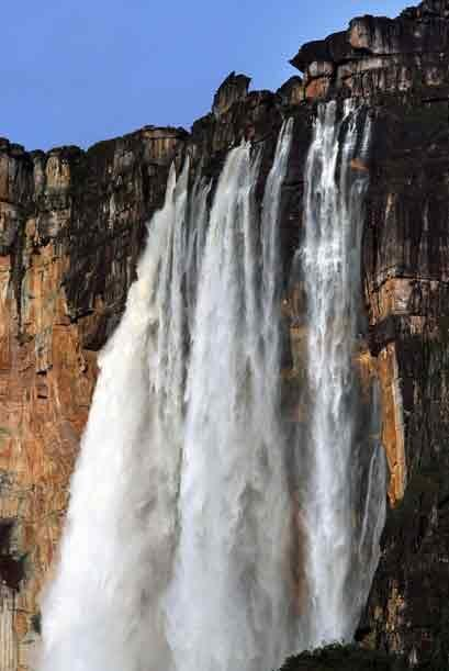 Venezuela: Parque Nacional Canaima. Vista general del Salto Angel, la c...