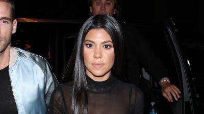 Kourtney Kardashian impactó con sus transparencias