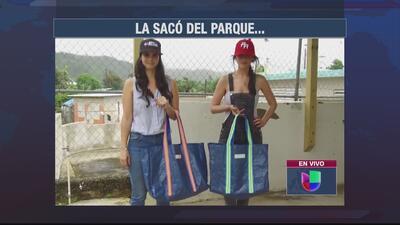 Esta semana la sacaron del parque: las hermanas Alana y Naomi Cáceres