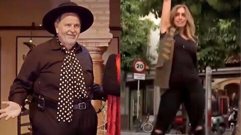 Los mejores pasos de baile de Lili Estefan y Raúl de Molina en su visita...