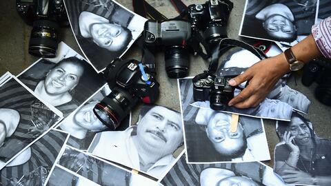 Al menos 11 perioditas fueron asesinados en 2017 en México. (Arch...