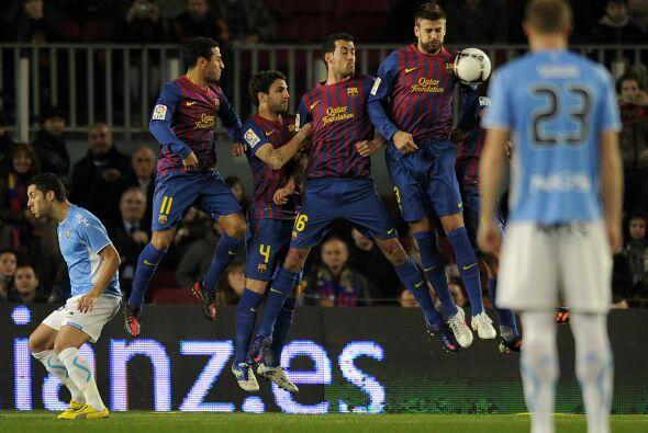 El Barcelona disputó su primer partido del 2012 en la Copa del Rey.