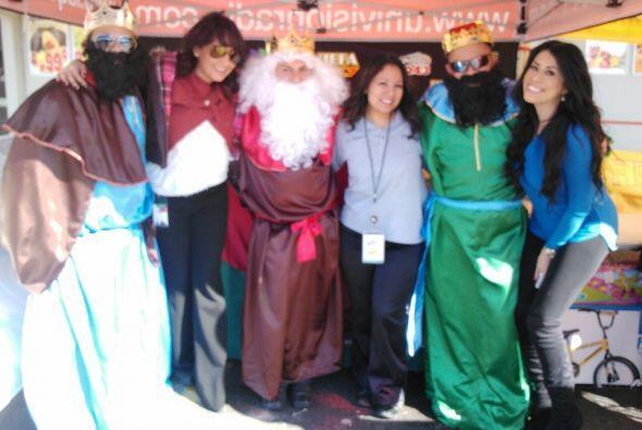 También compartieron sonrisas y alegría con Los Reyes.