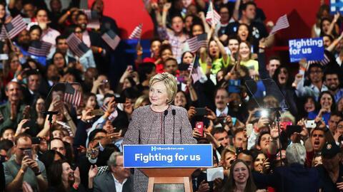 Hillary Clinton triunfa en las primarias de Nueva York